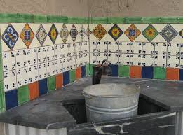 outdoors tile backsplash mexican home decor gallery mission