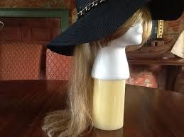 chemo hats with hair attached brownish blonde 16 inches of human new product hats with attached