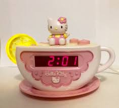 clock radio with night light vintage sanrio hello kitty tea cup digital alarm clock am fm radio