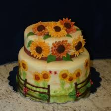 sunflower bridal shower cake cakecentral com
