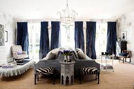 Contemporary Classic by Trendy Modern Classic Living Room Gray Blue Curtains Drapes Hand