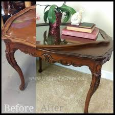 refinishing wood tea tray table terra bella paints uniquely