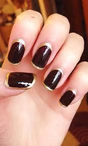gold frames u2022 nail art karaellarayner