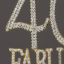 bling cake toppers 40 fabulous cake topper gold rhinestone metal