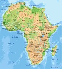 tunisia physical map map africa