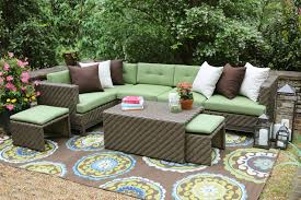 Sectional Patio Furniture Sets Peachy Sectional Patio Furniture Set Isola Wicker Outdoor