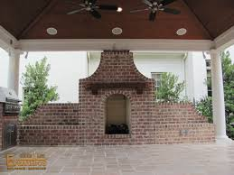 agreeable corner outdoor fireplace feature black stained iron