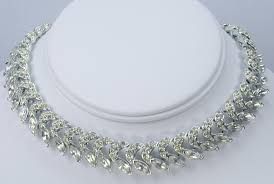 crystal rhinestone necklace images Alice vintage jewelry JPG