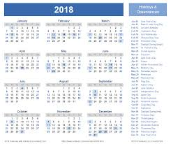 Printable Calendar With Holidays 2018 | 2018 calendar templates and images