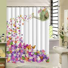 popular bathroom accessories curtain buy cheap bathroom warm tourwaterproof elegant butterfly floral shower curtain washable art bathroom accessory curtain f china