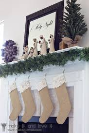 Homemade Christmas Stockings by Burlap Christmas Stockings Make It And Love It