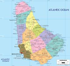 Map O Detailed Clear Large Map Of Barbados Ezilon Maps