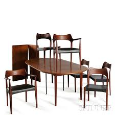 scandinavian design dining table scandinavian design dining table and six chairs sale number 2870b