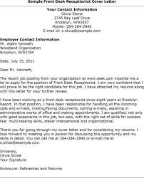 My Resume Agent Front Office Agent Cover Letter