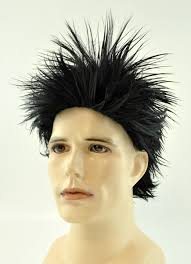 spiked looks for medium hair mens spiky rocker wig costumes wigs theater makeup and accessories