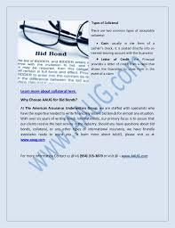 for bid aaug insurance company ltd bid bonds surety and the american assu