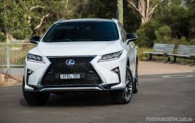 lexus cars australia price 2016 lexus rx 450h f sport review video performancedrive