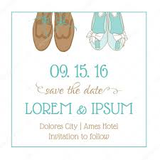 Date Invitation Card Wedding Invitation Card With Wedding Shoes Save The Date