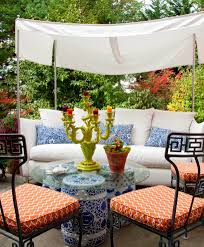 Outdoor Side Table Ideas by Atlanta Orange Garden Stool Living Room Traditional With Brick