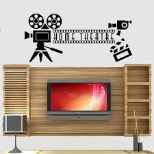 compare prices on cinema wall decor online shopping buy low price living room decor home cinema theatre quote wall stickers bedroom art sticker decals self adhesive vinyl