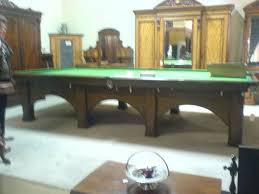 full size snooker table an arts and crafts oak snooker table by riley in the style of m h