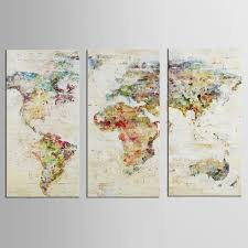 World Map Canvas Art by Online Buy Wholesale Colorful World Map Canvas From China Colorful