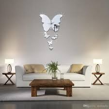 fashion 3d diy butterfly mirror wall clock modern design watch fashion 3d diy butterfly mirror wall clock modern design watch wall sticker children s room home decoration dropship buy cheap 7 inch wall clock 8 inch