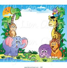royalty free animal border stock lion designs