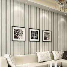 striped wallpaper modern grey sofa tv wall paper background
