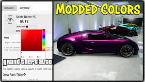 Best Color Codes Gta 5 Online New