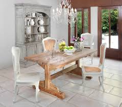 trestle table dining room shabby chic with cabinet chandelier