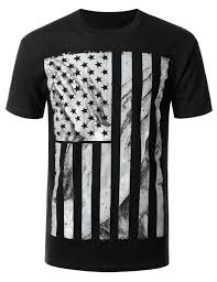 Black And White American Flag Faded American Flag Graphic Cotton T Shirt Walmart Com