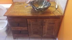 Wooden Vanity Custom Pallet Wood Vanity Youtube