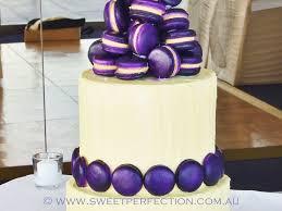 purple macaron confection wedding cake cakecentral com