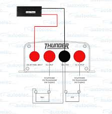 thunder 20a amp dual battery isolator system kit dc to dc charger