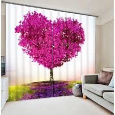 popular fantasy textiles buy cheap fantasy textiles lots from modern fantasy lovely heart tree print blackout 3d window curtains for bedding room living room hotel