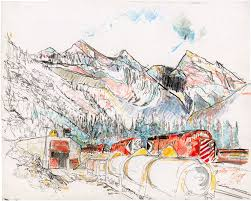 Canadian Pacific Railway Map Linda Kitson Drawings And Projects Tributes The First Female War