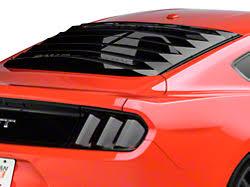 mustang rear louvers louvers rear window americanmuscle
