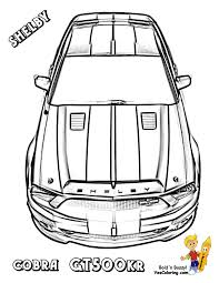 coloring mustang coloring page