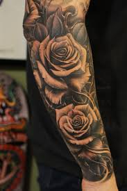 image result for rose front shoulder tattoo male tattoo ideas