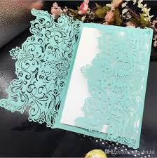 personalized cards wedding mint green laser cut flower wedding invitations card personalized