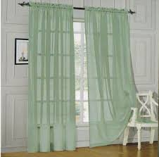 amazon com 4 piece solid jade green sheer curtains fully stitched