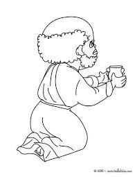 baby jesus coloring page balthasar gives myrrh to baby jesus coloring pages hellokids com