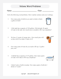 Gallon Worksheet Volumewordproblemsp3 3 Big Gif