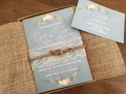 Shabby Chic Wedding Invitations by Box Wedding Invitation Set Vintage Wedding Invitation Boho Wedding