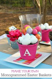 Easter Basket Door Decorations by Best 25 Monogrammed Easter Baskets Ideas On Pinterest Initial