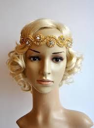 gold headpiece gold rhinestone headband wedding headband headband