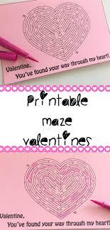 kid valentines printable maze teach beside me