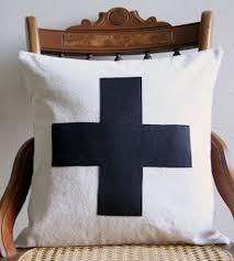 halloween cushions swiss cross pillow cover u2013 black home decor u0026 lighting lori
