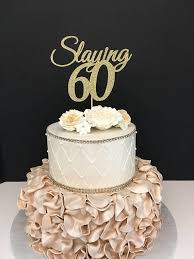 60 cake topper any number gold glitter 60th birthday cake topper slaying 60